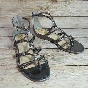 Circus Sam Edelman Gray Gladiator Sandals